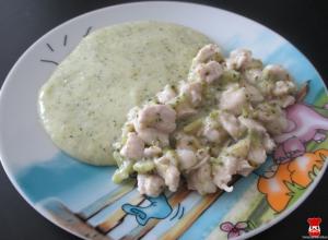 Morčacie na brokolici a zemiakovo-brokolicová kaša