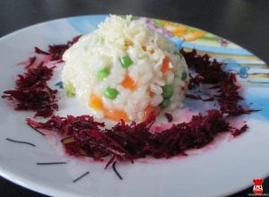 Mrkvovo-hráškové rizoto
