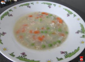 Polievka z jarnej zeleniny s ovsenými vločkami