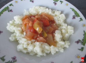 Zeleninové soté s ryžou