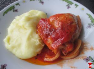 Zapečené paradajkové stehná